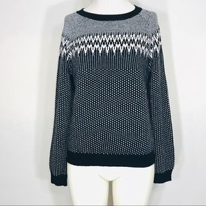 J.Crew Wool Blend Black and White Sweater Sz Sm/Md